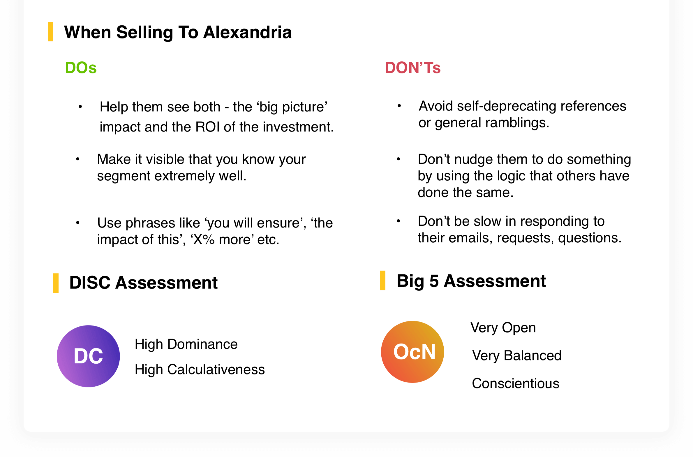When Selling To Alexandria